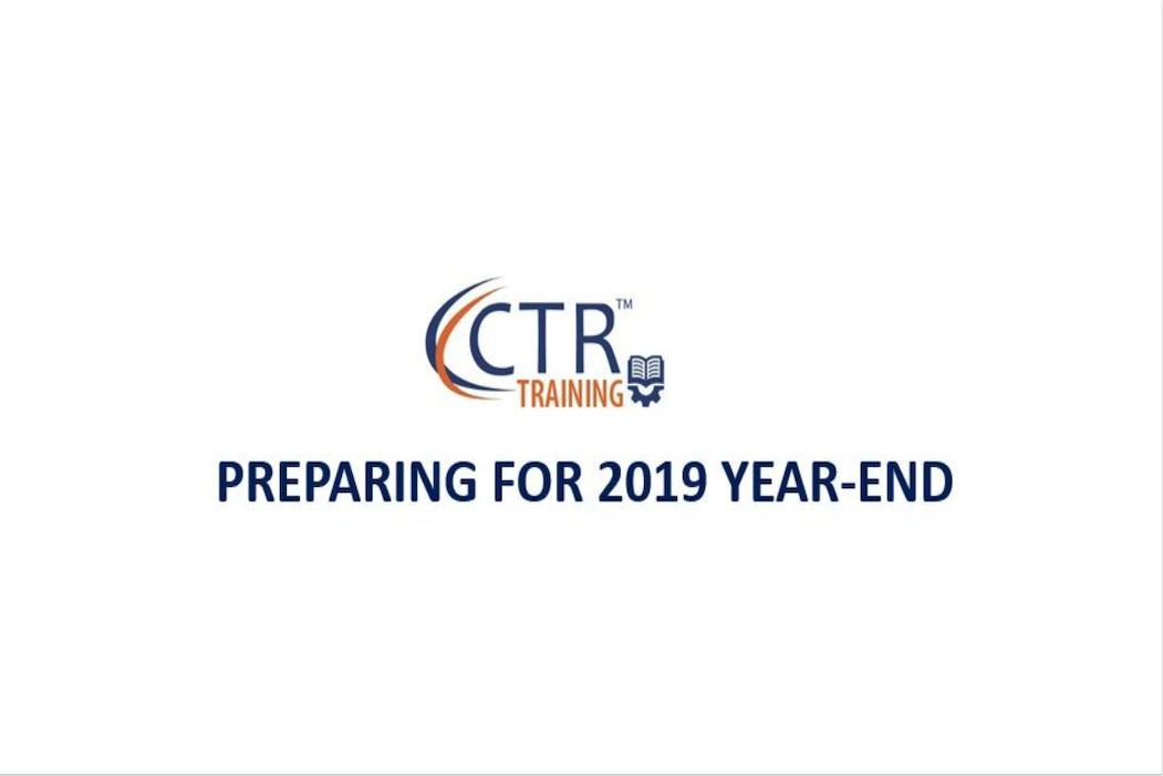 CTR Payroll logo with text Preparing for 2019 Year-End